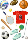 Baseball, ping-pong, tennis, basketball, golf Royalty Free Stock Photo