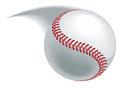 Baseball pitch hit or throw leaving a blurred path Stock Photo