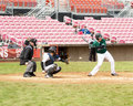 Baseball player at bat.. Stock Images