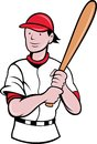 Baseball player batting cartoon Stock Photography