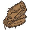 Baseball Player Glove Royalty Free Stock Photo