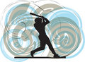 Baseball player. illustration. Stock Image