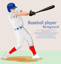Baseball player vector illustration background Royalty Free Stock Photography
