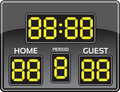 Baseball scoreboard Royalty Free Stock Photos