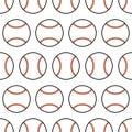 Baseball. Seamless pattern with sport balls. Vector Royalty Free Stock Photo