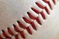Baseball Seams Macro Royalty Free Stock Photo