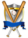 Baseball Shield Banner 2 Illustration Royalty Free Stock Image