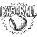 Baseball sketch Royalty Free Stock Images
