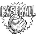 Baseball sketch Stock Image