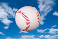 Baseball in sky Royalty Free Stock Photos