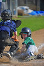 Baseball Sliding into home Royalty Free Stock Photo