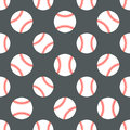 Baseball, softball sport game vector seamless pattern, background with line icons of balls. Linear signs for
