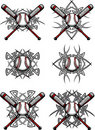 Baseball / Softball Tribal Vector Images Royalty Free Stock Photo