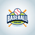Baseball sport badge logo design template and some elements for logos, badge, banner. T-shirt screen and printing.