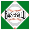Baseball sport logo with a over a diamond Stock Images