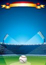 Baseball stadium vector poster design this is file of eps format Stock Photo