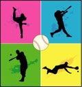 Baseball vector shapes Stock Images