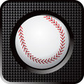 Baseball web button Royalty Free Stock Photo