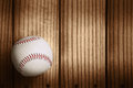 Baseball on a wooden background Royalty Free Stock Photo