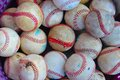 Baseballs basket of used dirty Royalty Free Stock Images