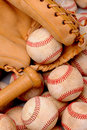 Baseballs Bat and Glove Stock Image