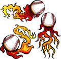 Baseballs with Flames Images Royalty Free Stock Image