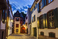 Basel old town street Royalty Free Stock Photo