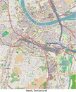 Basel switzerland europe hi res aerial view of the city of in Royalty Free Stock Photo