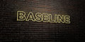 BASELINE -Realistic Neon Sign on Brick Wall background - 3D rendered royalty free stock image Royalty Free Stock Photo