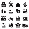 Basic agriculture and farming icons set vector illustration Stock Images