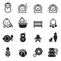 Basic baby icon seth set vector illustration Stock Photos