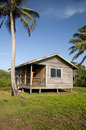 Basic beach house cabana corn island nicaragua Royalty Free Stock Photos