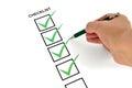 Basic checklist Royalty Free Stock Photo
