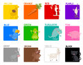 Basic colors educational set