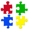 Basic colors puzzels Royalty Free Stock Photos