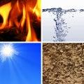Basic elements of nature Royalty Free Stock Photo