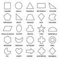 Basic geometric shapes Royalty Free Stock Photo