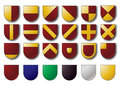 Basic heraldry shields Royalty Free Stock Images