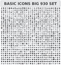 Basic icons set big Stock Photos