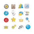 Basic icons set for internet Stock Photo