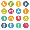 Basic Posture People Sitting Standing Icon Sign Symbol Pictogram Royalty Free Stock Photo