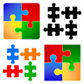 Basic puzzle pieces illustration of Stock Photography