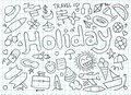 Set of Holiday doodles - Vector