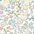 Easter spring seamless pattern