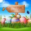 Vector Illustration of Happy Easter Holiday
