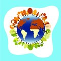 stock image of  Globe illustration for earth