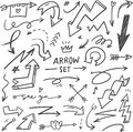 Set of Hand drawn arrows doodle