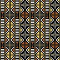 African Print fabric, Ethnic bologan design, Ethnic and tribal motifs geometric elements. Vector texture, mud clothes pattern text