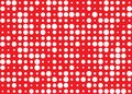 White Dots Pattern in Red Background