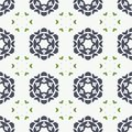 Abstract texture with curved flower seamless pattern